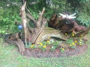 Driftwood Flowerbed